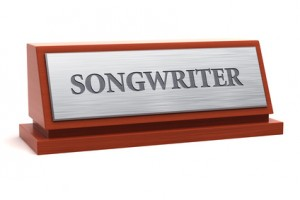 Songwriter job title on nameplate